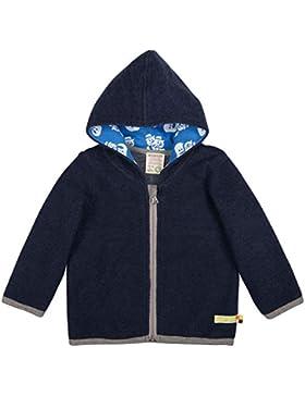loud + proud Modische Baby Kapuzenjacke aus Bio Woll-Fleece mit Bio Baumwolle, Vorne mit Reißverschlussaus, GOTS...