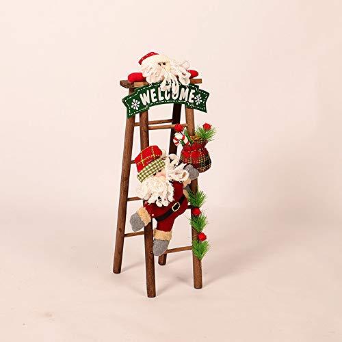 Mitlfuny Weihnachten DIY Home Decor 2019,Weihnachtsweihnachtsmann, Der Auf Seil-Leiter-Abbildung-WeihnachtsbäUme-Dekor Im Freien Klettert