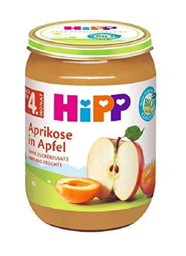 HiPP Früchte Aprikose in Apfel, 6er Pack (6 x 190 g)