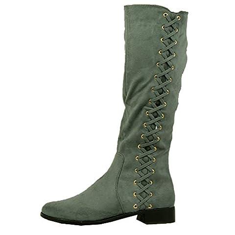 Cucu Fashion , Sandales Compensées femme - gris - gris, 37 1/3