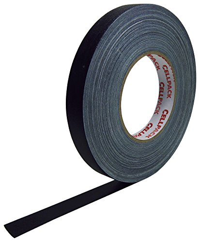 Cellpack 145938900.305-15-25,-Schleifenband Stoff, beschichtete Baumwolle, schwarz