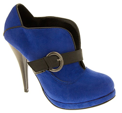 Dopo Blu Poshh Pelle Faux Femmes Scamosciata Cobalt Suède Le Donne Cobalto Poshh Faux Bleu Bout w0n7wSU