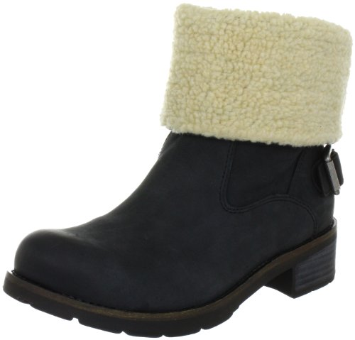 Calvin Klein Jeans Hazel Oiled Nubuck/Shearling, Chaussures montantes femme Noir (Blk)