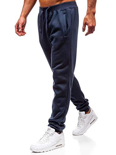 BOLF Herren Sporthose Trainingshose Jogginghose Sport Jogger Street Style J.Style XW01 Dunkelblau M [6F6] Street Sport Jogger