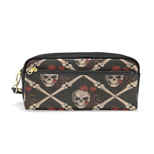 Estuche, pluma bolsa Maquillaje bolsa cartera gran capacidad de calavera resistente al agua de los estudiantes o mujeres