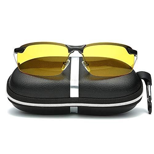 Gläser Nachtsicht Sonnenbrillen Nachtfahrten Polarisierte Nachtfahrten Sonnenbrillen Leichte Teardrop Sonnenbrillen Angeln Fahren für Schneesport Männerfrauen (Color : Schwarz, Size : Kostenlos)
