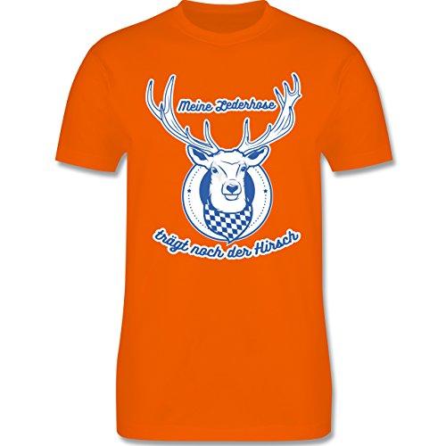 Shirtracer Oktoberfest Herren - Meine Lederhose Trägt Noch der Hirsch -  Herren T-Shirt Rundhals