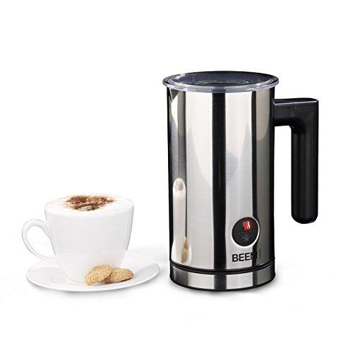 Beem Milchaufschäumer 1010SR-Elements of Coffee & Tea, automatisch, 450-550 W, Erwärmen und Aufschäumen, Edelstahl