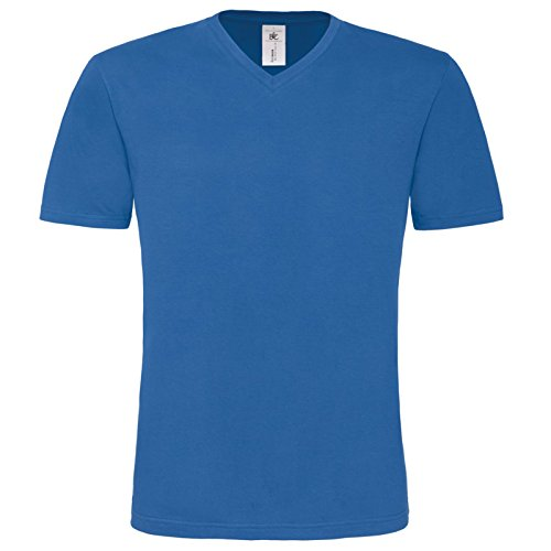 B&C Collection Herren Modern T-Shirt Königsblau