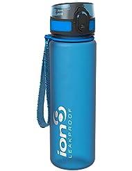 Ion8- Bottiglia per l'acqua, a prova di perdite, senza BPA., Unisex, Leak Proof BPA Free,Frosted Blue, 500 ml