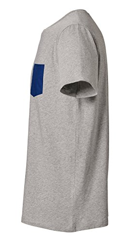 Herren Rundhals Bio T-Shirt mit Brusttasche aus 100% Bio-Baumwolle- in diversen Farben Schwarz und Weiß, Bio Tshirt Bio mit Pocket, Bio Shirt, Einführungspreis Heather-Grey