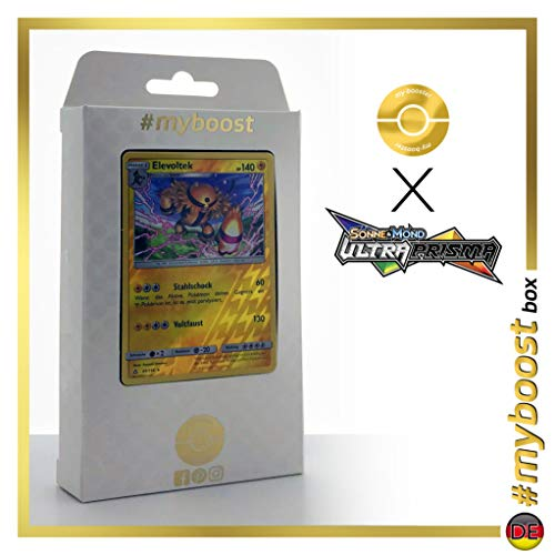 Elevoltek (Electivire) 44/156 Holo Reverse - #myboost X Sonne & Mond 5 Ultra-Prisma - Box de 10 Cartas Pokémon Aleman