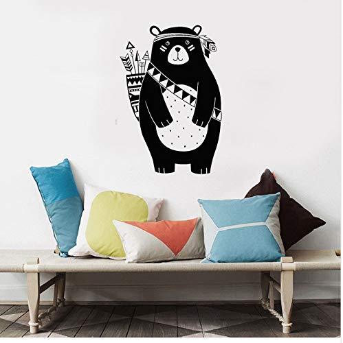 WFYY Nordic Style Woodland Animal Autocollants Enfants Et Bébé Tribal Ours Autocollant Mural pour Chambres d'enfants E-Co Friendly Vinyle Decal Chambre 42X62Cm