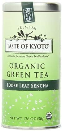 TASTE OF KYOTO Sencha Green Tea, Premium Loose Leaf, 1.76 Ounce