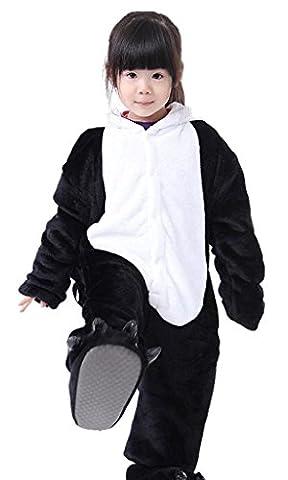 Auspicious beginning Unisex Tier Pyjamas Halloween Panda Giraffe Jumpsuits für Kinder (Chucky Die Puppe Kostüm)