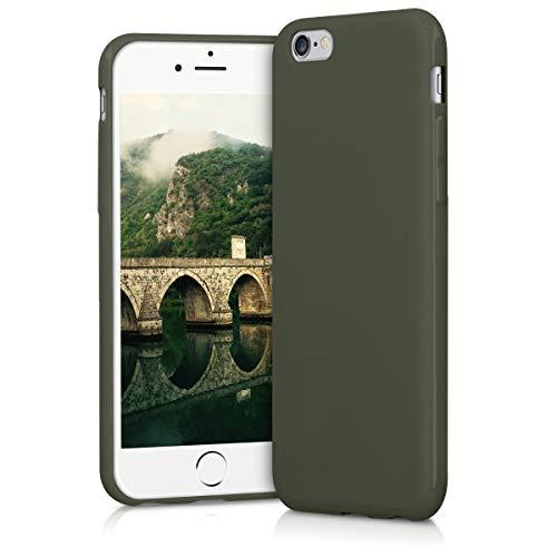 kwmobile Apple iPhone 6 / 6S Hülle - Handyhülle für Apple iPhone 6 / 6S - Handy Case in Olivgrün matt -