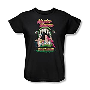 Dc Comics-Jaws-Maglietta da donna, colore: nero