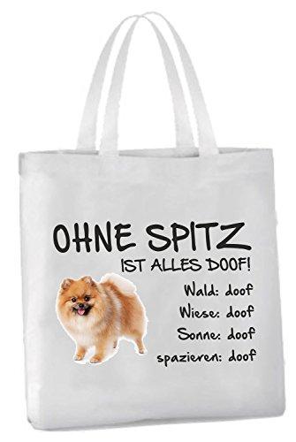 AdriLeo Einkaufstasche Ohne Spitz ist Alles doof! -