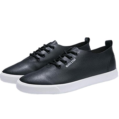 SHFANG Lady Shoes Pu Semplice Flat Bottom Gli studenti di svago Scuola Shopping Permeability Movimento Bianco Nero Black