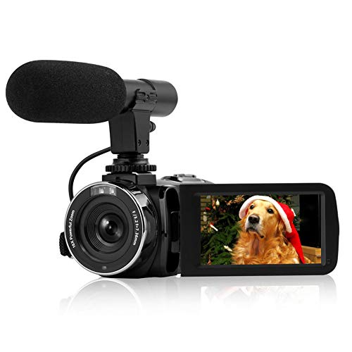"Camcorder Vlogging Camera, Full HD 1080P 30FPS Camcorder with Remote Control Wifi IR Night Vision 3"" LCD Touch Screen Digital Video Camera With Microphone"