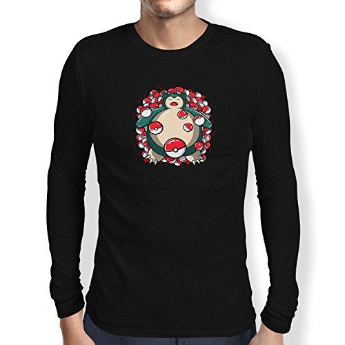 TEXLAB - American Snore - Herren Langarm T-Shirt Schwarz