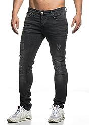 Tazzio slim fit Pantalon Jean destroyed Look stretch Denim 16525