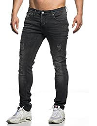 Tazzio slim fit Pantalon Jean destroyed Look stretch Denim 16525