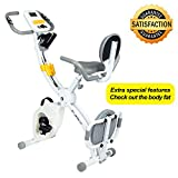 Birtech Advanced Exercise Bike, 8 Level Adjustable Resistance, Soft Cushion Seat Backrest, LCD