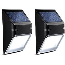 Luci Esterni Impermeabili Mpow Lampada Solare Wireless ad Energia Solare da Esterno a 5 Lampadine LED per Parete, Muro, Giardino, Terrazzino, Cortile, Casa, Corraio ecc- 2 Pezzi