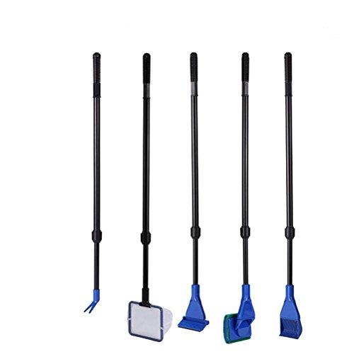 pixnor-acquario-pulizia-kit-raschietto-alghe-rastrello-ghiaia-forcella-flant-spugna-5-in-1