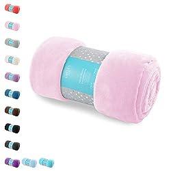AmeliaHome 39106 Kuscheldecke 170x210 cm rosa Decke Microfaser Mikrofaserdecke Fleecedecke Wohndecke Fleece weich sanft kuschelig puder powderpink pink Tyler Collection