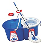 Hilton HWDMDB Wet and Dry Magic Plastic Bucket Mop Set (Multicolor, 4-Pieces)