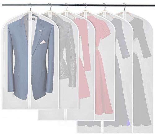 120cm Niviy Cubiertas de la Ropa Protectores Claros de la Cremallera para Los Juegos de la Camisa//Capas,Transpirable Fundas de Vestido,3pcs los 60 100cm,3pcs los 60