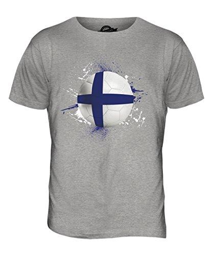 CandyMix Finnland Fußball Herren T Shirt Grau Meliert