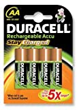 Brand New. Duracell Stay Charged Battery Long-life Rechargeable 2000mAh AA Size 1.2V Ref 75071752 [Pack 4]