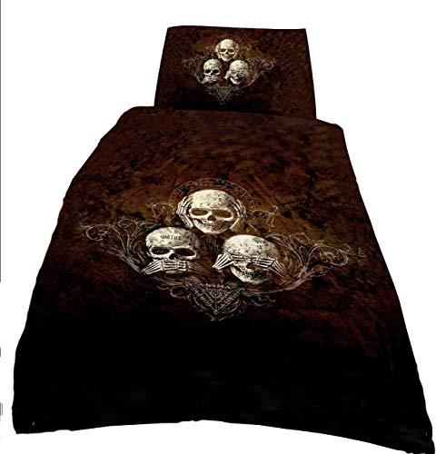 Alchemy gothic No Evil single Duvet cover Set 135 x 200 cm