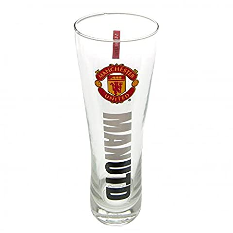 Official Manchester United FC Tall Beer Glass