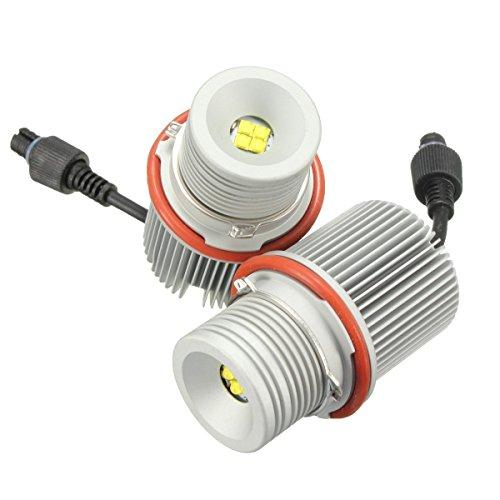 40w Nacht Licht (EX1 Auto Ultra Helle LED Licht Engel Augen CREE 40W für E39 E53 E60 E61 E63 E65 E66 E83 E87 X5 (Weiß))