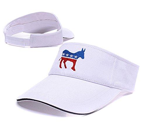 sianda-ane-democrate-logo-visiere-de-golf-a-broder-hat-sun-pac-taille-unique-white-visor