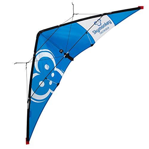 Skymonkey Fastrider Lenkdrachen ab 10, Anfänger 2 leiner Leichtwinddrache, 127cm