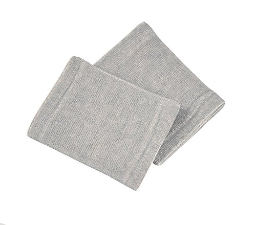 Bambus anthrazit Handgelenkstütze Displayschutzfolie Handgelenkbandage, Bandage für Arthritis Schmerzlinderung Light Grau Aufclipsen (2 Stück/1 Paar)