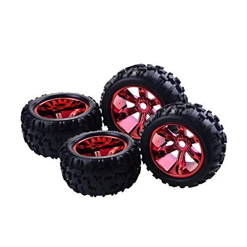 4 STÜCKE RC Auto Felge Reifen für Redcat Hsp Kyosho Hobao Hongnor Team Losi  GM HPI 1/8 Truggy Monster Truck Gummireifen 17mm Hex