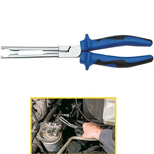 TrAdE Shop Traesio - Pinza Lunga per Candele di ACCENSIONE Dritta per Officina Meccanico Auto 240mm