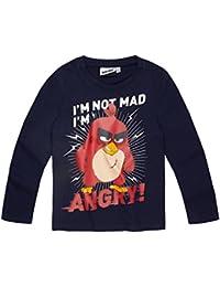 Angry Birds Garçon Tee-shirt manches longues 2016 Collection - bleu marine