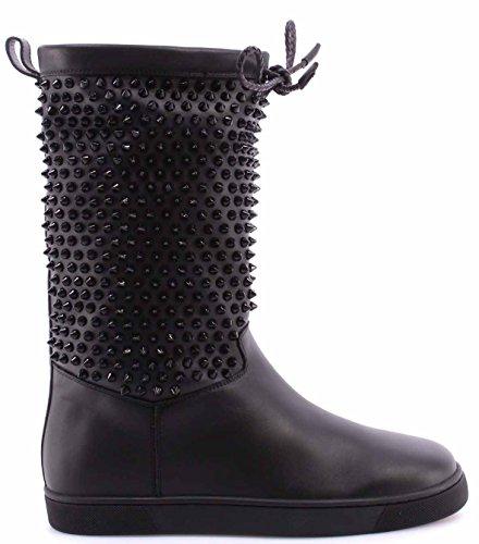 scarpe-donna-stivali-christian-louboutin-paris-naza-flat-nappa-shearl-spikes-blk