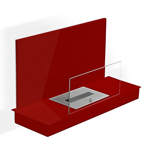 Foco-con-pie-Oslo-XL-rojo-Chimenea-de-etanol-Sartn-ecolgico-colocar-el-suelo-mobile-porttil