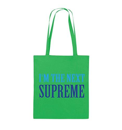 Borse Da Commedia - Nella Prossima Suprema - Borsa Di Juta - Manico Lungo - 38x42cm - Colore: Nero / Bianco-rosso Verde / Azzurro-blu Reale