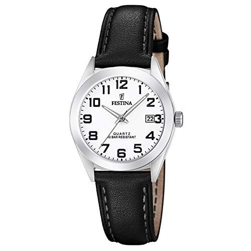 Festina Damen Analog Quarz Uhr mit Leder Armband F20447/1