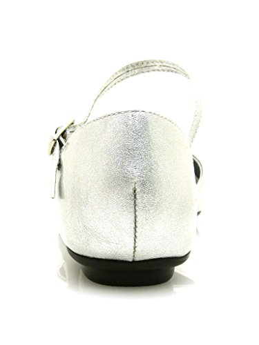 Via One Chaussures Élégantes Ballerines Été Chaussures Chaussures Femme Painted Leather 10733201 Argent