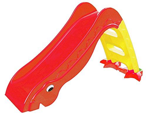 Rutsche im Dinosaurier Design, 135x40x70 cm, Rot (Kleinkind-outdoor-schaukel Und Rutsche)